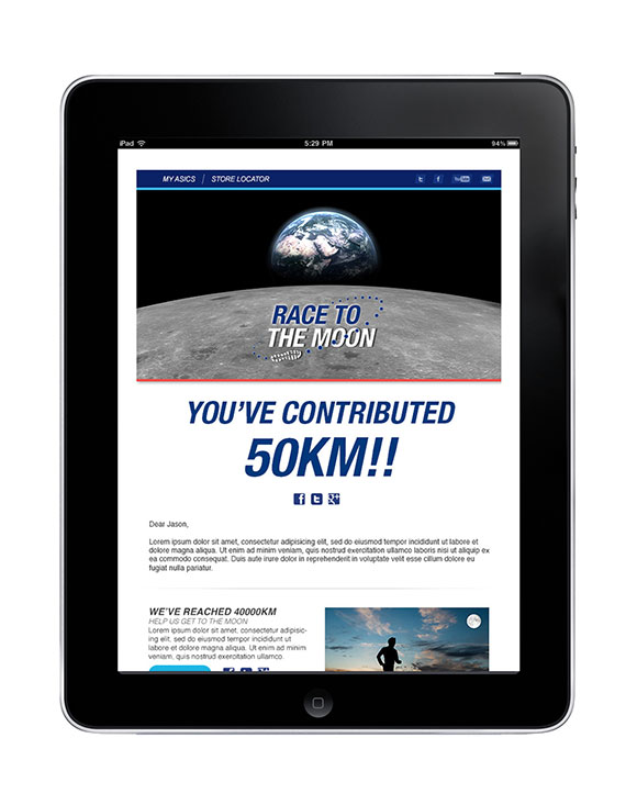 Race to the Moon email